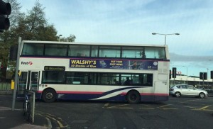 Walshy's 50 Shades of Blue Bus Advertising
