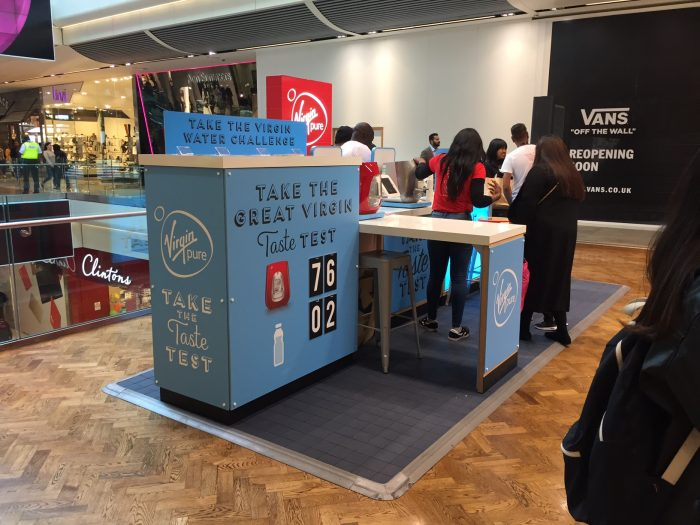 Virgin Pure Waterbar Kiosk