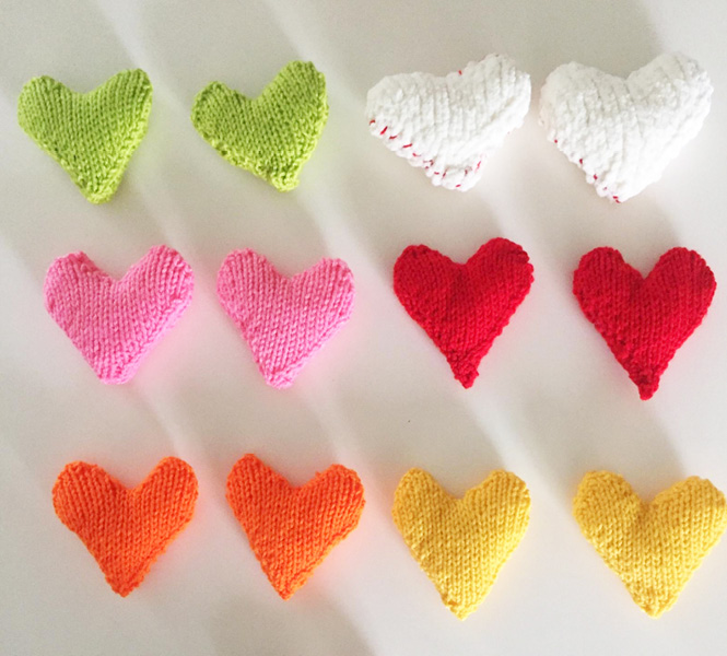 Charlotte's Knitted Hearts