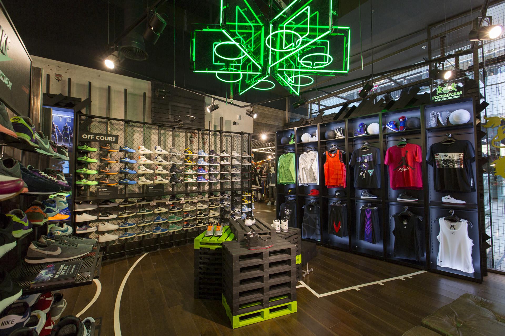 Nike Retail Display in Footasylum stores